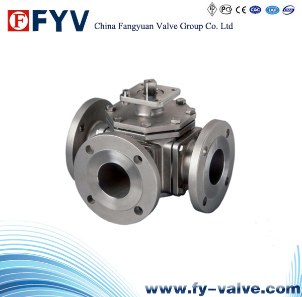 API6d Cast Steel 3 Ways Ball Valves