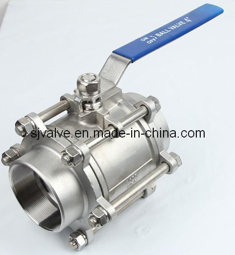 3 Piece Stainless Steel Floating Ball Valve