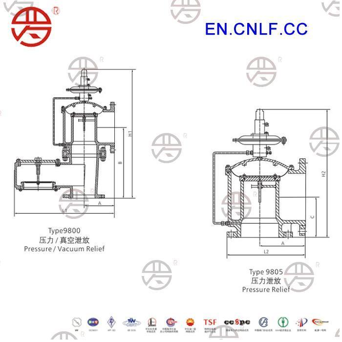 lf-9800 pilot operated pressure  vacuum relief valve