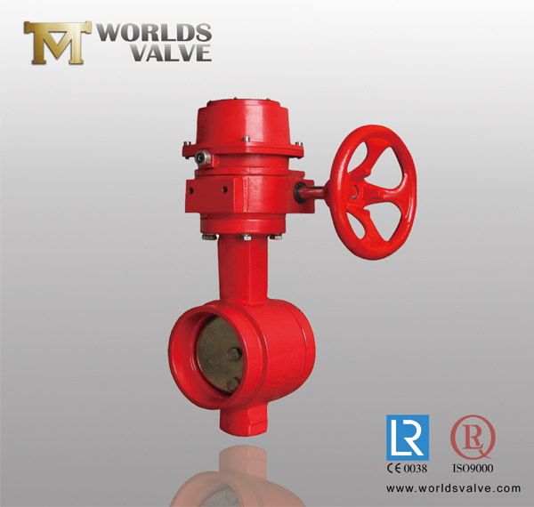 Grooved end connection butterfly valve china