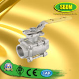 3PC Staniless Steel Thread Ball Valve