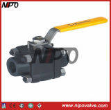 3PCS Forged Steel Floating Ball Valve