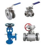 Stainless Steel 2/3 Ways Pneumatic/Manual Control Globe Ball Valve
