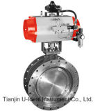 Pneumatic Triple /Three Eccentric off-Set Butterfly Valve for Regulation and Control in Water Treatment-Three Eccentric Certer Metal Seat Wafer Connection