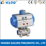 Pneumatic Actuated Stainless Steel Ball Valve for Water Treatment