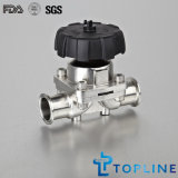Sanitary Stainless Steel Clamped Diaphragm Valve (new design)