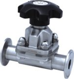Ss304/316/316L Sanitary Clamped Diaphragm Valve with Handle (110028)