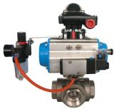 3 Way Ball Valve with Pneumatic Actuator
