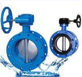 Iron Casting Double Flange Butterfly Valve with Worm Gear