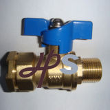 Brass Lockable Ball Valve for PE Pipe
