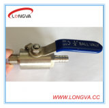 Stainless Steel 1 PC Mnpt X Hose Fitting Ball Valve