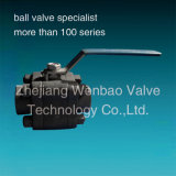 Wb-01 3PC High Pressure Ball Valve Lever Operated Ball Valve