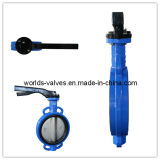 Aluminum Handle Ci Body Wafer Butterfly Valve (WD7A1X-10/16)