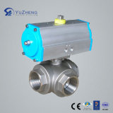 L Type Three Way Ball Valve with Pneumatic Actuator