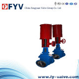 API 6D Pneumatic Flanged Double Disc Parallel Gate Valve