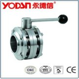 Three Piece Clamped Ball Valve (ISO9001: 2008, CE, TUV Certified)