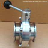 Stainless Steel Sanitary Ss304 Tc Triclamp Butterfly Valve