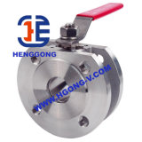 Ss304/Ss316 DIN Pn16 Wafer Ball Valve