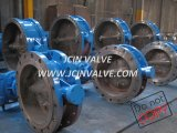 Manual Double Flange High Pressure Butterfly Valve (D343H)