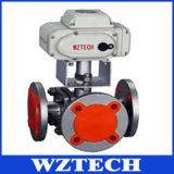 3 Way Electric Adjustable Flange Ball Valve