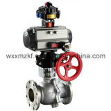 Dn125 Flanged Pneumatic Actuator Ball Valve