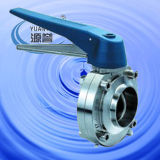 Sanitary Butterfly Valve with Plastic Multi-Position Handle (100117)