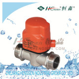D X F-A1 Brass Electrical Control Autocompensation Plug Valve/Heating Control Valve/HVAC Control Valve Used in Air Conditioner System or Heating System