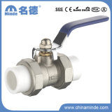 PPR Double Union Ball Valve Copper Core&Body for Building Materials