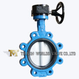 Worm Gear Nylon Coated Disc Rubber Seat Lug Butterfly Valve