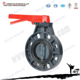 UPVC Plastic Lever Handle Type Butterfly Valve Dn50