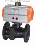 Ss316 Ss304 Wcb Material Pneumatic Ball Valve