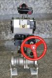 Ball Valve with Airtac Solenoid Valve and Manual Hand
