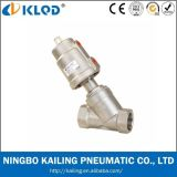 Kljzf Stainless Steel Pneumatic Angle Seat Valve