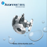 3 Way Flange Stainless Steel Ball Valve