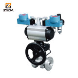 Ss304 Pneumatic Flange Ball Valve on-off Ball Valves