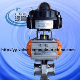Sanitary Pneumatic Butterfly Valve with Limit Switch Box