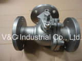 Three Way Ball Valve with Flange End