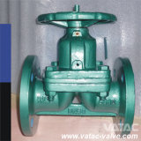 Flanged Ends Wcb Body FEP Lining Through Type Diaphragm Valve