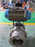 Pneumatic Actuator Operate Flanged Ball Valve (WCB/SS304)