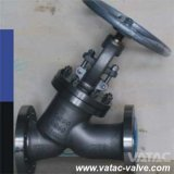 Y Type Alloy 20 Monel Trim Flanged Globe Valve with Cl150/Pn16