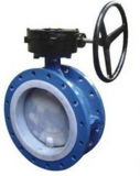 Worm Gear Flange Soft Sealing Butterfly Valve