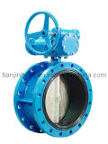 Double Flange Type Butterfly Valve with Worm Gear (D341X)