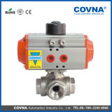 3 Way Ss304 Pneumatic Ball Valve for Water Treatment
