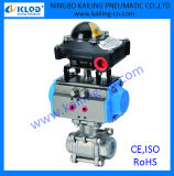 Pneumatic Actuator Controlled Ball Valve to Control Air Water