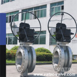 Cast Steel Wcb/Lcb RF Flanged Butterfly Valve