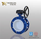 Rubber/PTFE Seated Double Flanged Butterfly Valve with CE&ISO (D341X-10/16)