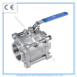 Hebei Supply 3PC Stainless Steel Ball Valve with Lock