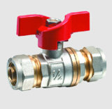 Quick Connection Brass Ball Valve with Butterfly Handle