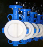 Full Lined PTFE Wafer Centraline Butterfly Valve