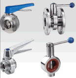 Hot Selling Diary Manual Clamp Type Butterfly Valve with Pull Handle